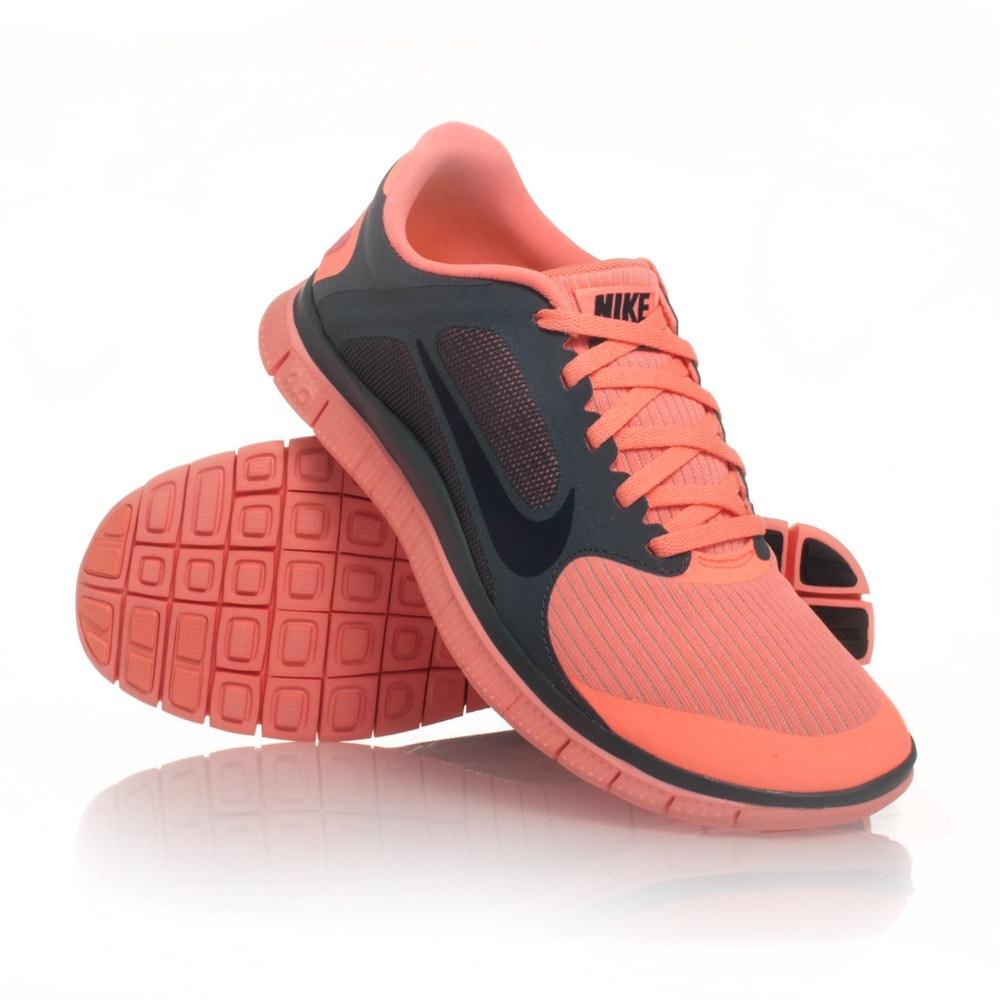 cfdbaaec647 ... 25% Off Nike Free 4.0 V3 - Womens Running Shoes - Atomic Pink Slate ...