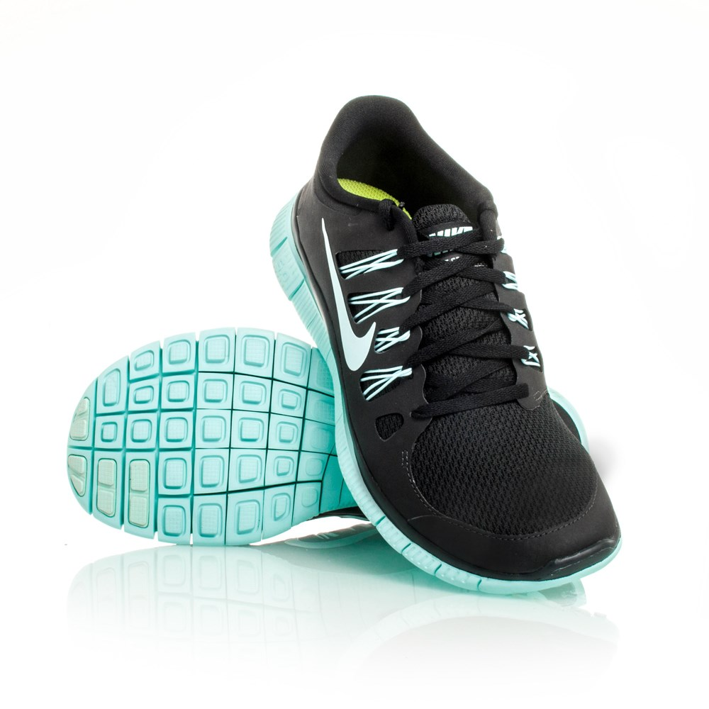 12% Off Nike Free 5.0+ - Womens Running Shoes - Black/Teal ...