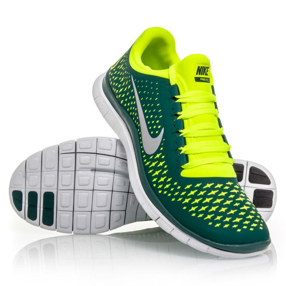 03c8839e3d5b Nike Womnes Free 3.0 V4 Yellow Silver Royal